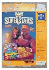 1991 Hulk Hogan & Ultimate Warrior Wwf Cereal Box ab74