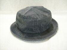 NEW BLACK WASHED COTTON FISHING BUCKET HAT CAP LARGE NISSUN CAP