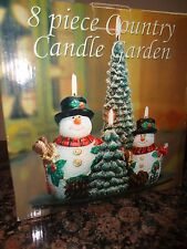 Christmas Holiday 8 Piece Country Candle Garden New In Box