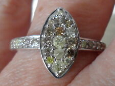 100% Natural Fancy Diamond Sterling Silver Ring 0.50ct Sparkly Diamonds