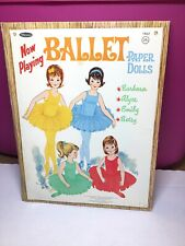 Vintage 1966 Whitman Ballet Paper Dolls Barbers Alyce Emily Betsy