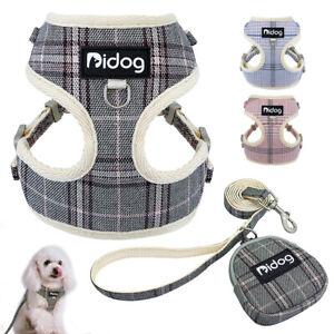 Guinzaglio+Pettorina per Cani Imbracatura per Passeggio Regolabile Rosa Blu