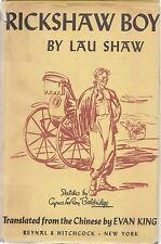 China Rickshaw Boy Novel by Lao She . Baldridge ills 1945 HC+DJ 18 Camel Xiangzi