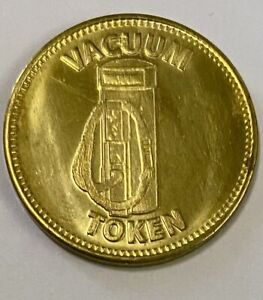 Vacuum Token Same Image On Both Sides Brass (3021)