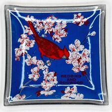 Vtg Cardinal Redbird and Dogwood Souvenir Dish North Carolina State Bird Flower
