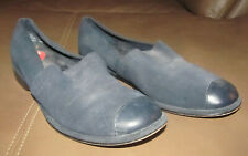Crossroads Dark Navy Blue Suede Leather Women's Flats Shoes Size 7