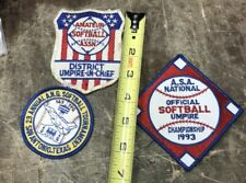 Vintage Softball Patches Lot Of 3