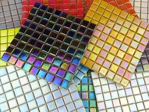 203 Sheet 10mm Iridescent Micro Tile (21 VARIOUS COLOURS)