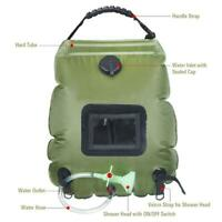 Portable Travel Camping Outdoor Solar Energy Heated Water Shower Bathing Bag