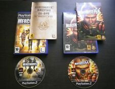 LOT 2 JEUX Sony PLAYSTATION 2 PS2 MERCENARIES + 2 L'ENFER DES FAVELAS (complet)