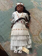Reservation Crafted Oglala Sioux Indian Doll Dressed In Leather.