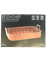 "Eco+Chef - 16"" Roaster Pan Ceramic Nonstick Cookware - Copper Series New in Box"