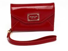 Michael Kors Women's Wallet Case Red Patent Leather Wristlet iPhone 4 4025