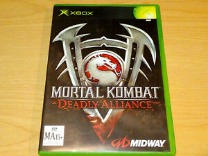 MORTAL KOMBAT DEADLY ALLIANCE XBOX ORIGINAL GAME COMPLETE MA15+ VGC.