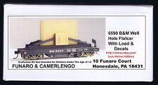 LMH Funaro F&C 6590  BM Boston & Maine  WELL HOLE FLAT Car w/ Load 5-Sold to GE