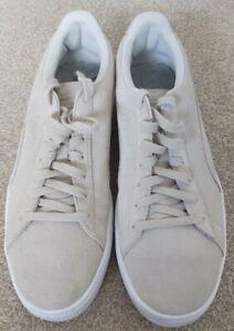 Puma Cream Suede Trainers UK 10