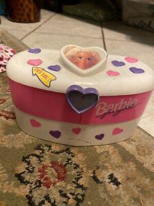 Barbie For Girls Talking Jewelry Box pink heart vintage 1995 Mattel Rare find