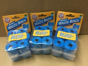 Arm & Hammer Disposable Waste Bag Refills, Blue By Arm & Hammer 270 COUNT(NEW)