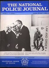 NATIONAL POLICE JOURNAL Magazine Summer 1968 article on US insurrection, LBJ cvr