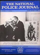 NATIONAL POLICE JOURNAL Magazine Summer 1968 article on US insurrection, LBJ cvr