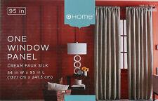 NEW HOME 95 inch One Window Treatment Panel Cream/Rust Faux Silk Drapery Curtain