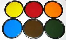 49mm 6X Color Filter Set Red Blue Green Yellow Orange Sepia