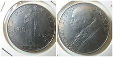 Citta' del Vaticano Pio XII 100 Lire 1957 vf+/bb+  KM 55