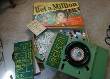 Old Vintage Lowe Bet a Million Game Roulette Craps Chips Felts Gambling Casino