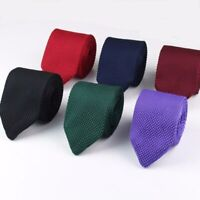 Handmade Men's Highest Quality Knitted POINTED END Tie Wedding Formal Casual UK