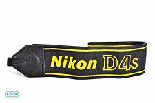 "Nikon 1.75"" Wide Black/Yellow Stitched ""D4S"" Camera Strap (AN-DC11)"