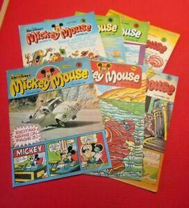 Walt Disney's Mickey Mouse 7 comics From 1980 Bundle Lot 14