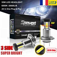 110W 30000LM H7 CREE LED 3570 Puce Brilliant Phare Lampe Kit Ampoule Blanc 6000K