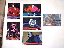 2003 JUSTICE LEAGUE DC COMICS INSERT 6 CARD LOT! FRIENDS FOES ACTION LENTICULAR!