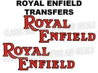 Royal Enfield Tank Transfers Decals Motorcycle Red/Black 1936 Onwards