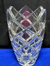 """Vintage Mikasa Lead Crystal Vase,Jubilee Pattern 10"""" tall,Glass,Diamond-Sawtooth"""