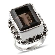 Artisan Crafted Brazilian Smoky Quartz (Oct) Ring in Sterling Silver Nickel Free