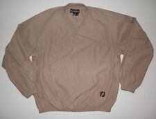 FootJoy Pull Over Soft Shell Sport Golf Jacket Coat Mens Size M Medium Tan