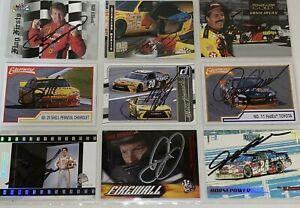9 NASCAR SIGNED DAYTONA 500 WINNER Card lot Jeff Gordon Dale Earnhardt Jr +MORE