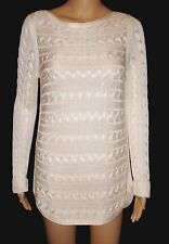 Ralph Lauren Women's Plaited Cable Knit Sweater Ivory NWT $99.50 Small