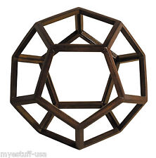 Authentic Models AR038 Dodecahedron 3D Geometric Ether Aether Wooden Model