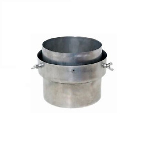 """Stove flue liner adaptor 6 inch to 6"""" connector flue pipe to liner with BOLTS"""