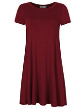 US Summer Women's Long Sleeve Casual Boho Loose Blouse T-Shirt Short Mini Dress
