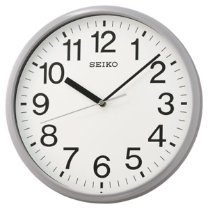 "*BRAND NEW* Seiko 12"" Office Grey Wall Clock QXA756NLH"