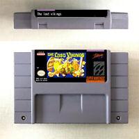 The Lost Vikings 1 2 Game 16 bit Cartridge Console Nintendo SNES US Version Engl