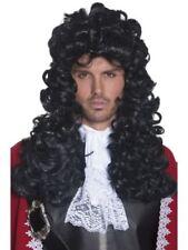 Pelucas y postizos piratas color principal negro de poliéster para disfraces y ropa de época