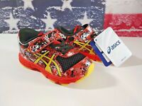 ASICS Noosa Tri 11 TS Running Shoes (Toddler) Velcro Sun Orange Graffiti Sz 6, 7