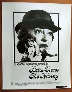 POSTER ART PRESS PHOTO THE NANNY Bette Davies (image 4)