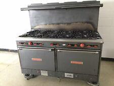 Vulcan 60 L 64 Heavy Duty Ten 10 Burner Lp Propane Range Stove Double Oven Minn