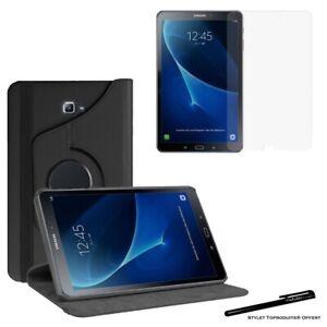 Housse Etui Noir pour Samsung Galaxy Tab A 10.1 SM T580 + Vitre de protection