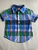 Baby Boy Shirt 12-18 Months, Gymboree, Short Sleeve, Multicolor